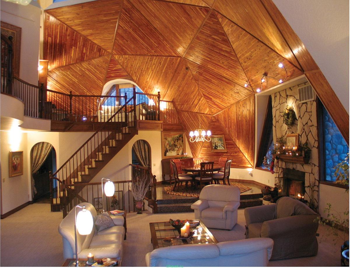 17 самых симпатичных потолков с отделкой из дерева