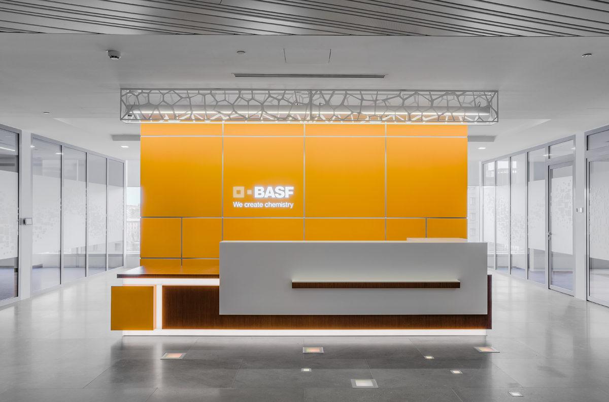 Офис BASF — строго, стильно, удобно