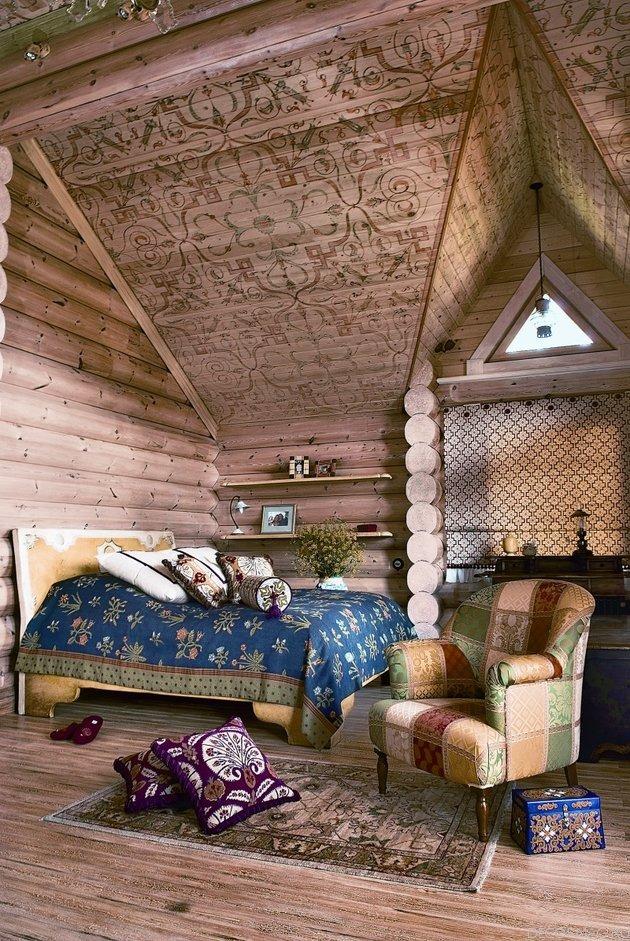 Спальня в  цветах:   Бежевый, Коричневый, Светло-серый, Серый, Темно-коричневый.  Спальня в  .