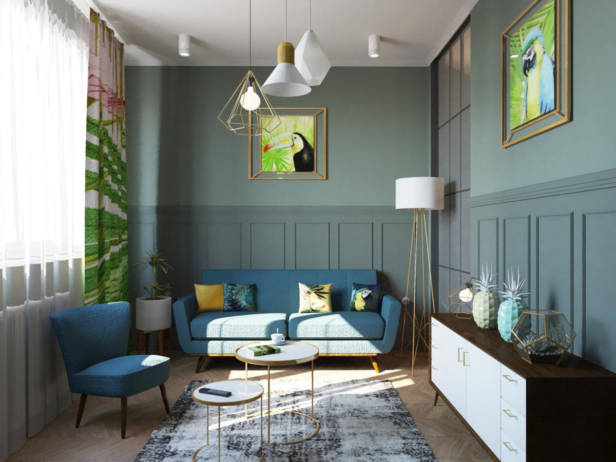 Трёхкомнатная квартира в стиле минимализм с бразильским духом
