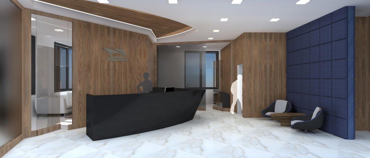Дизайн офиса: позитивный интерьер в мрачных тонах