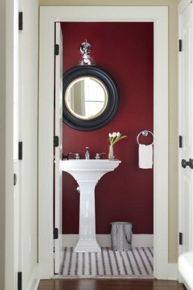 Ванная в  цветах:   Бежевый, Бордовый, Светло-серый, Серый, Темно-коричневый.  Ванная в  стиле:   Минимализм.