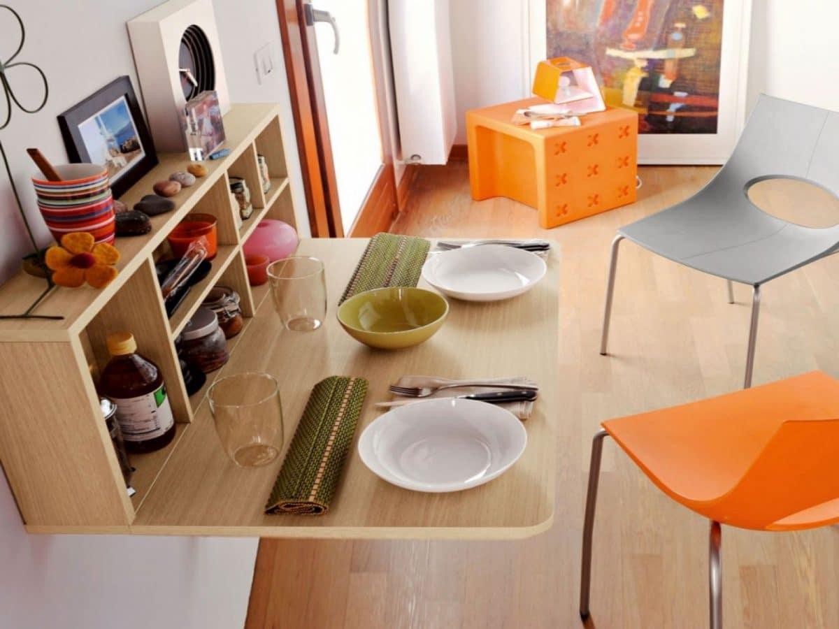Всё для маленькой кухни: 19 хитрых столиков