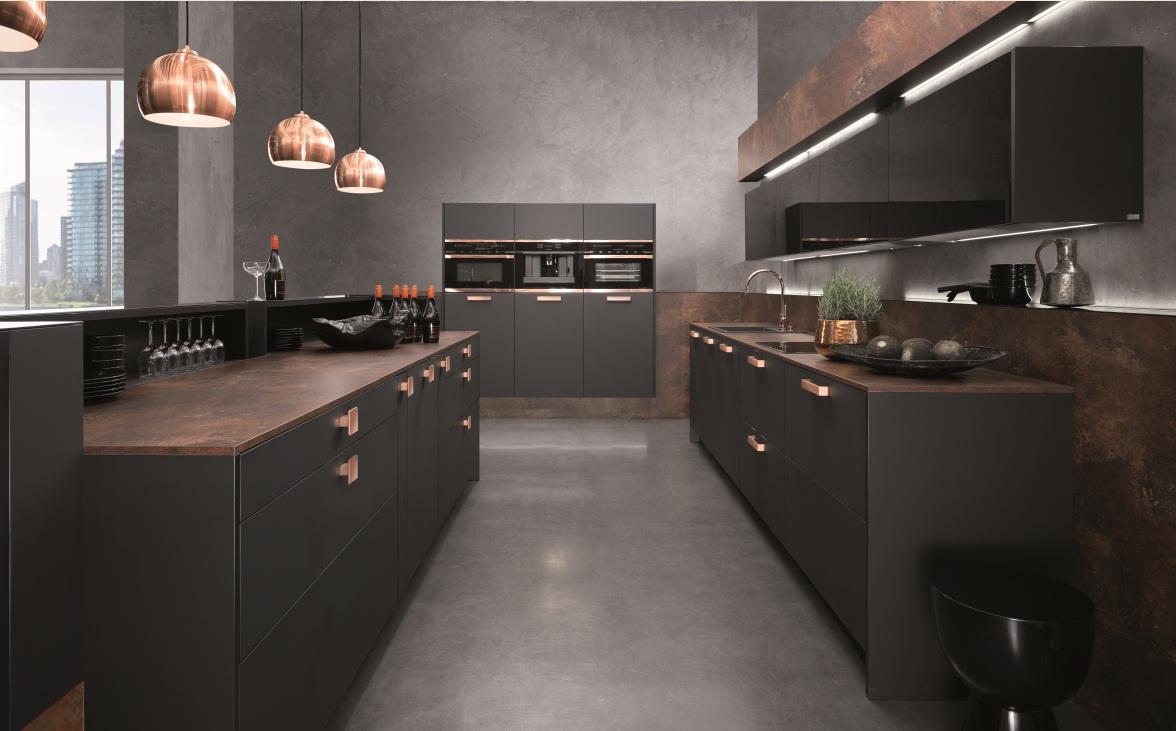 Кухня/столовая в  цветах:   Светло-серый, Серый, Темно-коричневый, Красный, Оранжевый.  Кухня/столовая в  стиле:   Минимализм.