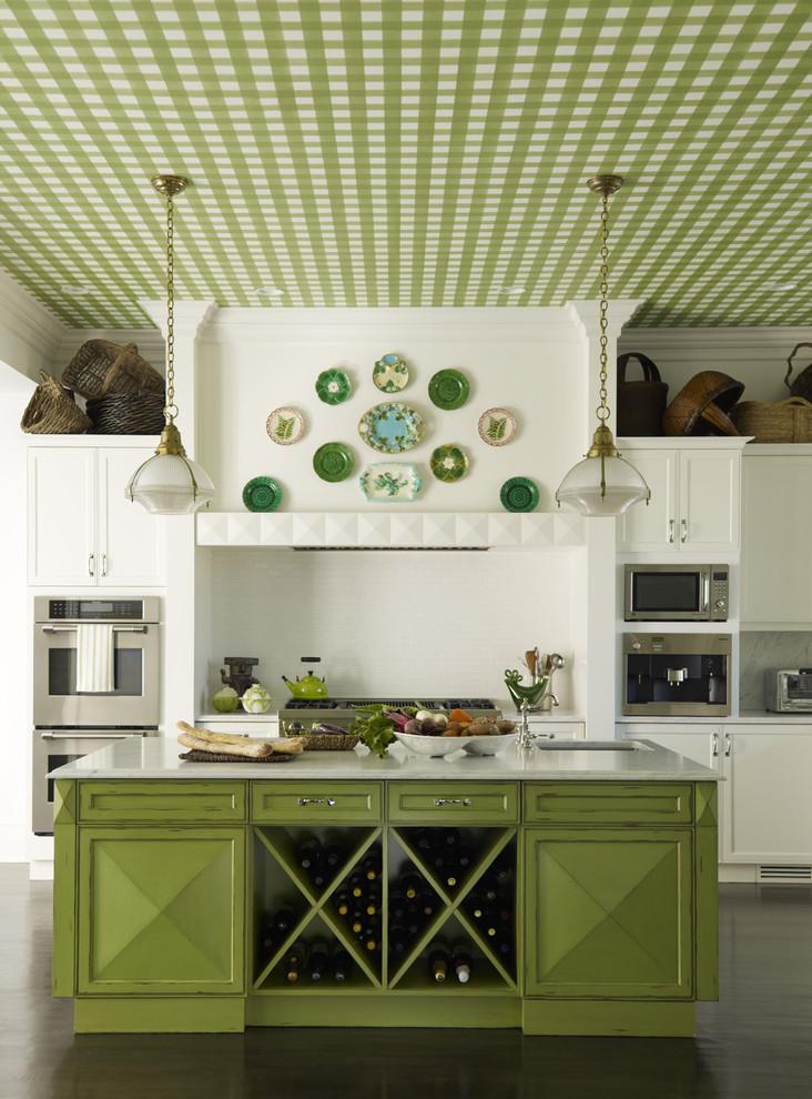 Кухня/столовая в  цветах:   Бежевый, Лимонный, Салатовый, Темно-зеленый.  Кухня/столовая в  стиле:   Кантри.