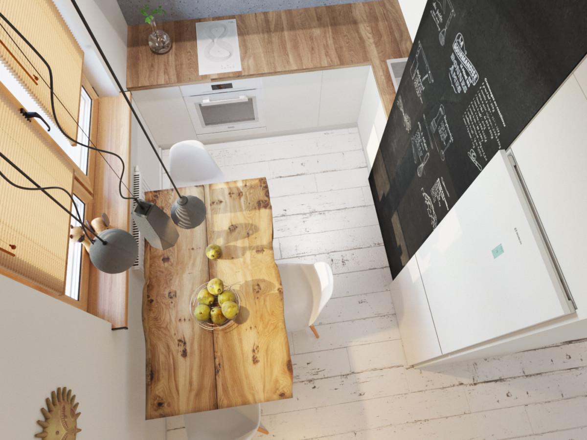 Кухня/столовая в  цветах:   Бежевый, Коричневый, Серый.  Кухня/столовая в  стиле:   Скандинавский.