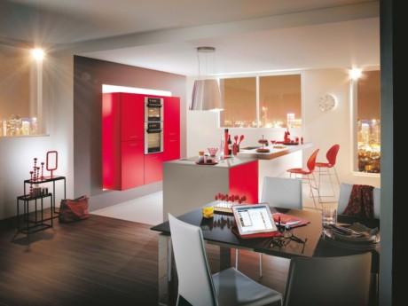 Кухня/столовая в  цветах:   Бежевый, Коричневый, Красный, Светло-серый, Темно-зеленый.  Кухня/столовая в  стиле:   Минимализм.