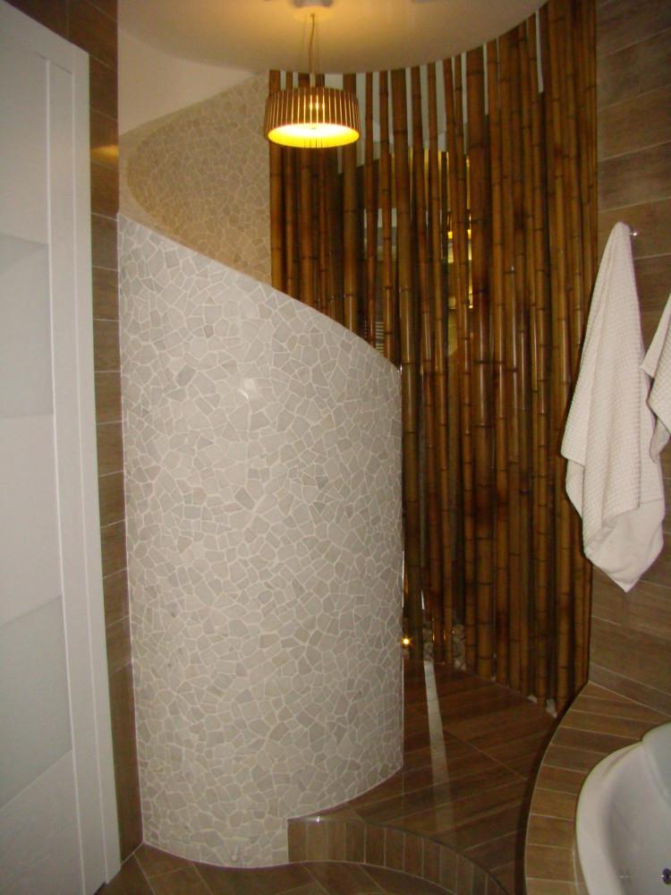 Ванная-спа в двухуровневой квартире в Видном.