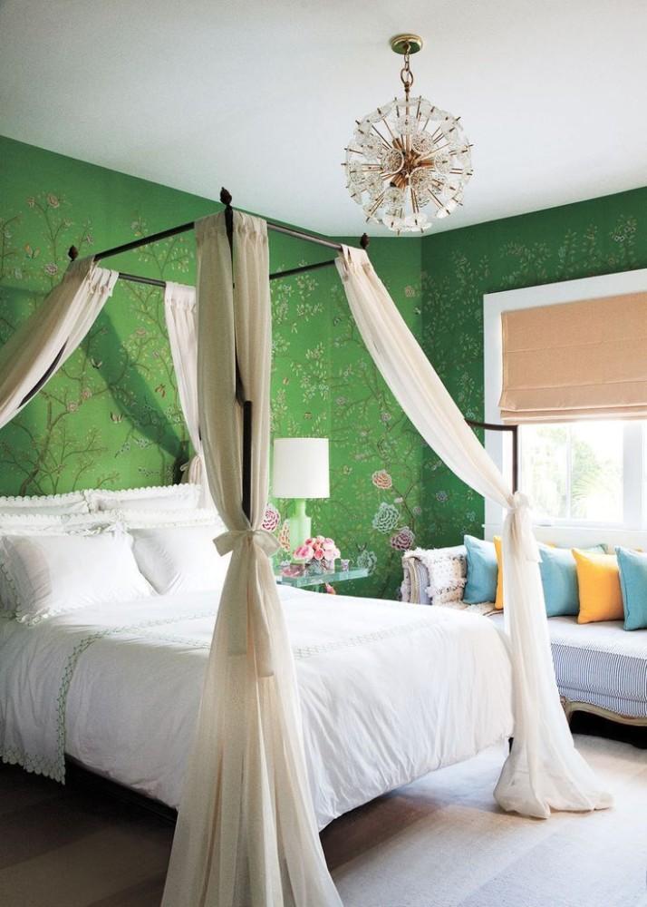 Спальня в  цветах:   Коричневый, Светло-серый, Темно-зеленый.  Спальня в  стиле:   Неоклассика.