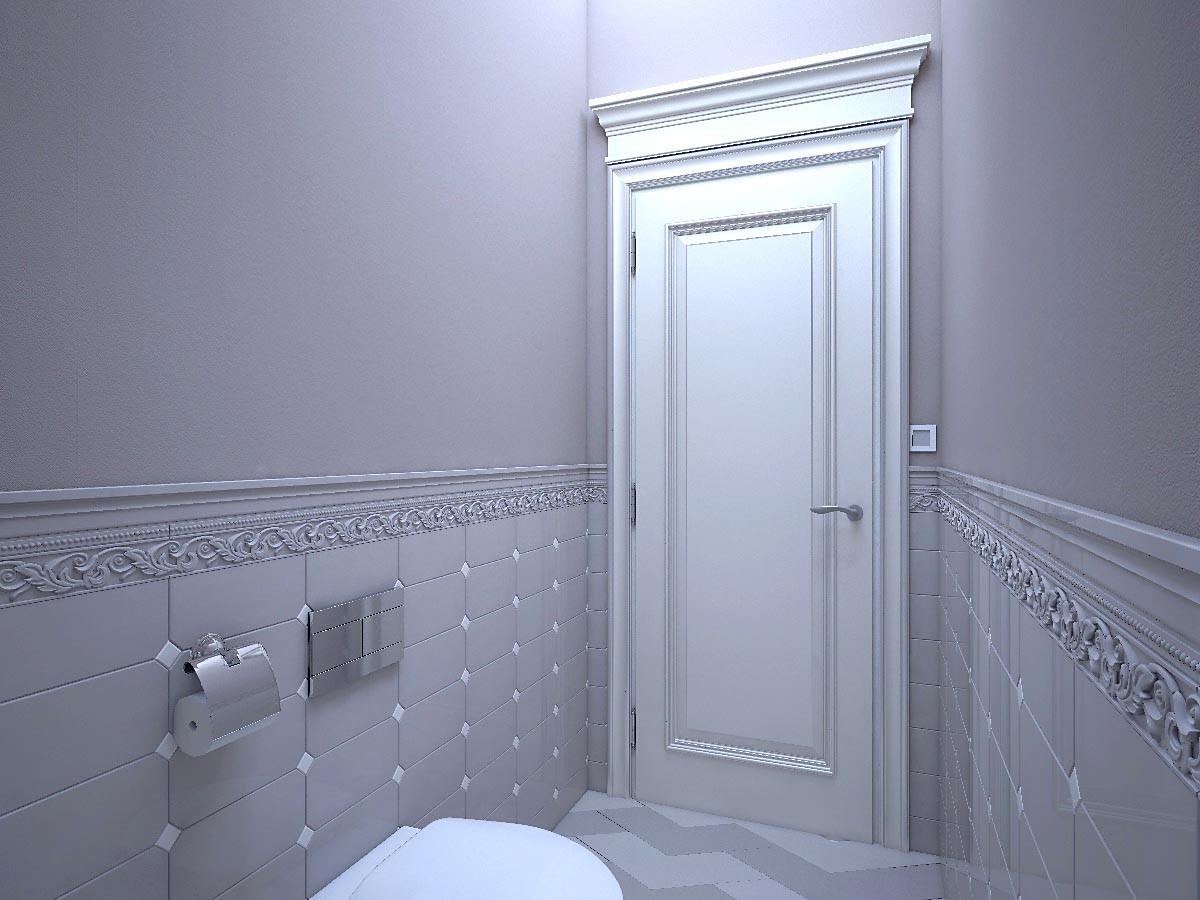 Приём для маленьких туалетов: чем меньше помещение, тем меньше должна быть по формату керамическая плитка.