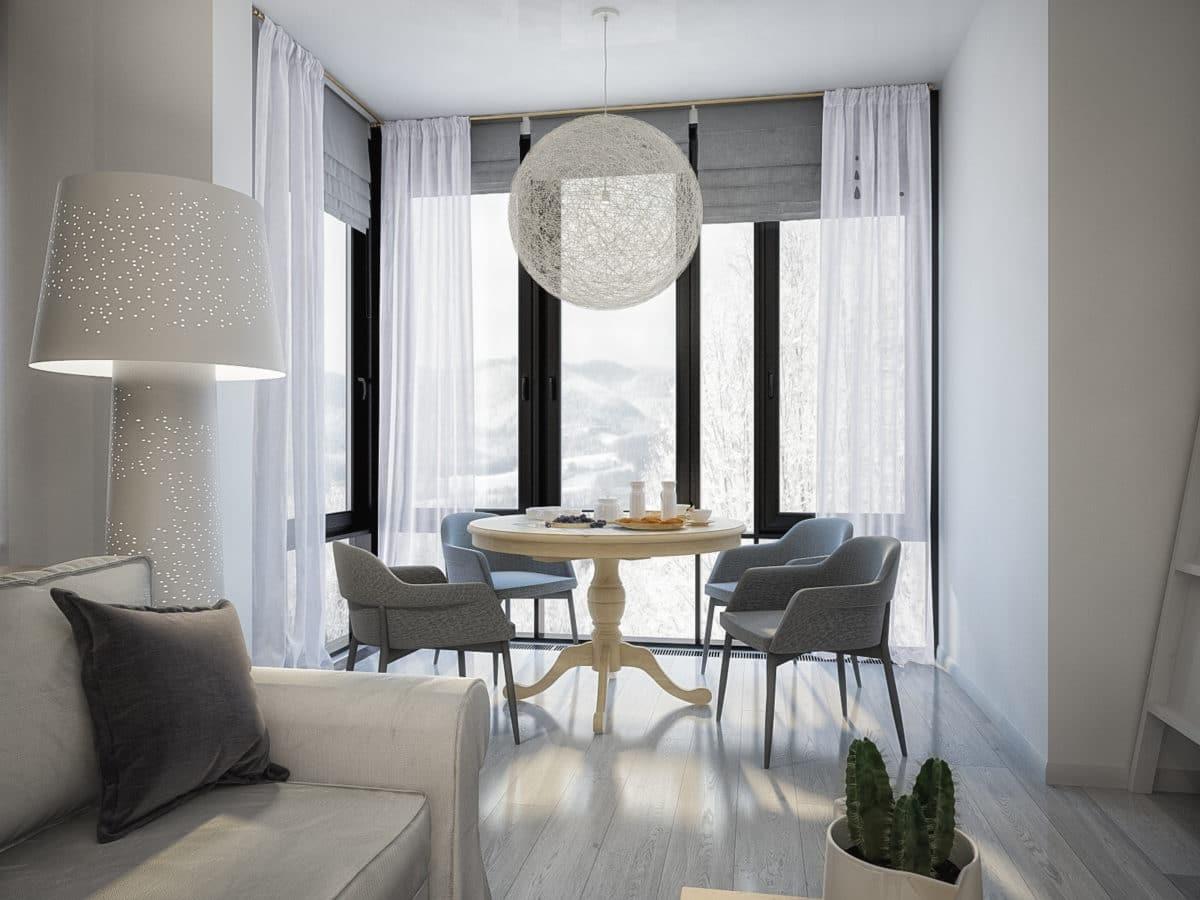 7 однокомнатных квартир в современном стиле