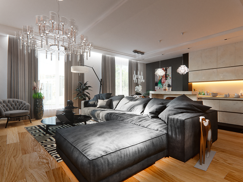 8 стильных современных квартир, которые вас поразят