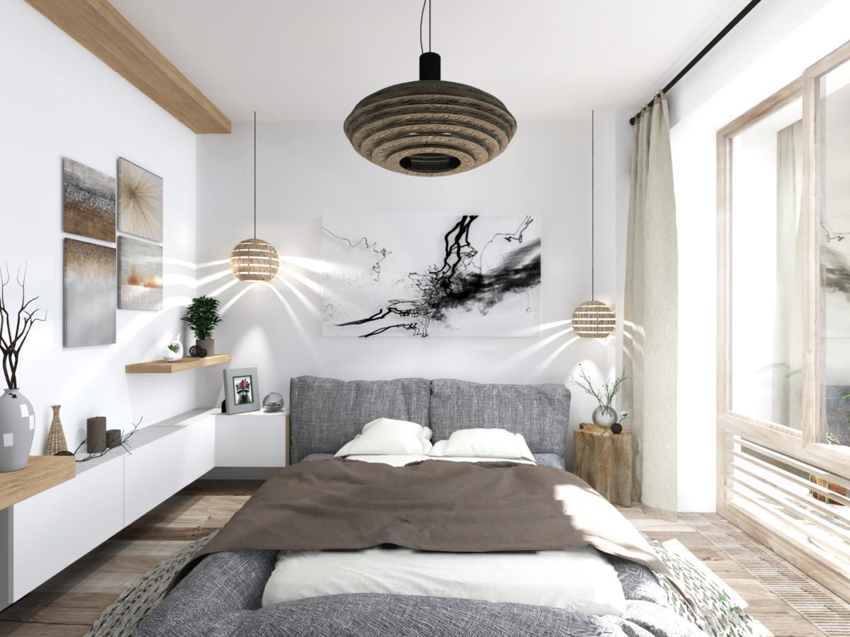 Спальня в  .  Спальня в  стиле:   Минимализм.