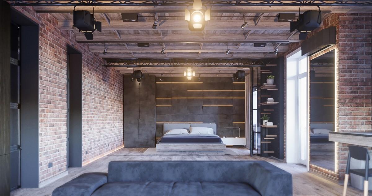 Квартира фотографа: открытая планировка и кирпичные стены — всё как мы любим