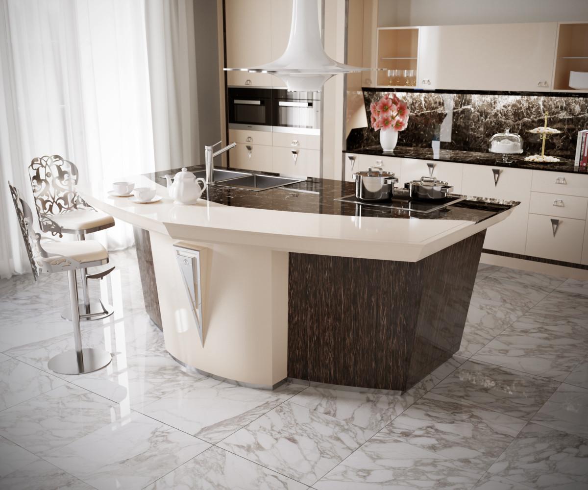 Кухонный остров для интерьера в стиле «Великого Гэтсби»