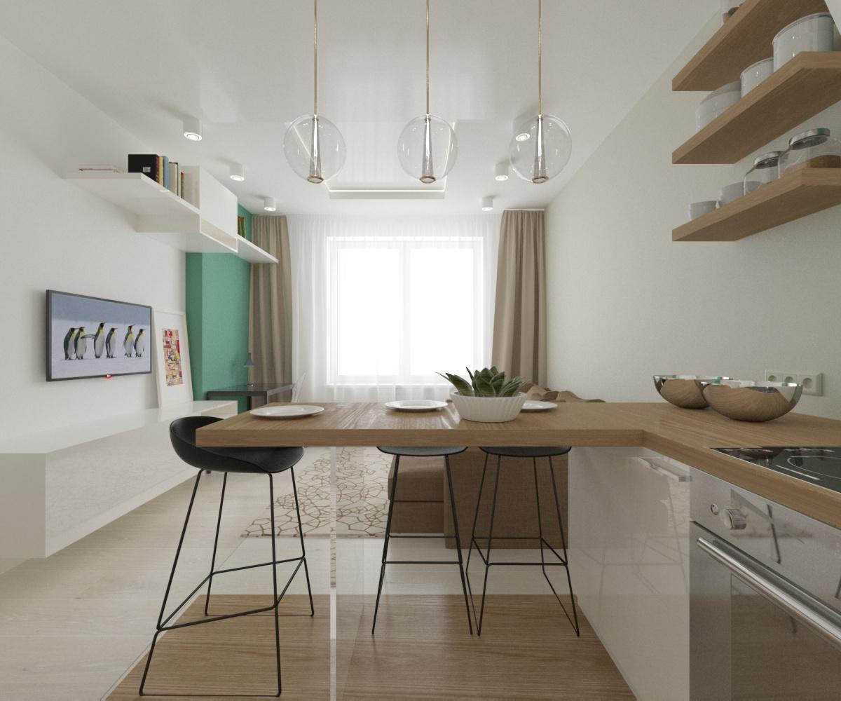 Кухня/столовая в  цветах:   Бежевый, Светло-серый, Темно-зеленый, Темно-коричневый.  Кухня/столовая в  стиле:   Скандинавский.