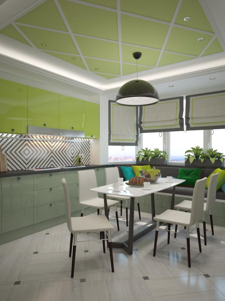 Для поддержания гармонии пространства вся техника встроена.  Мебель:  стол и стулья — ИКЕА, кухня — салон «Кухни мира».