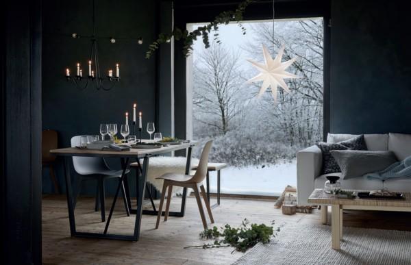 Кухня/столовая в  цветах:   Бирюзовый, Светло-серый, Серый, Фиолетовый.  Кухня/столовая в  стиле:   Скандинавский.