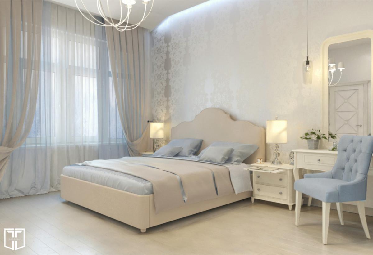 Будуарная атмосфера — то, что хотелось видеть владельцам этой спальни.