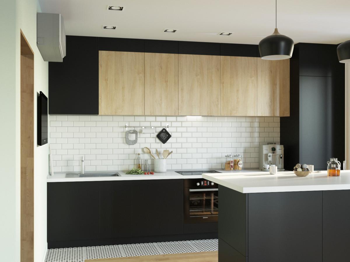 Мы решили, что такая плитка будет как никогда кстати в таком кухонном ансамбле, и не промахнулись.