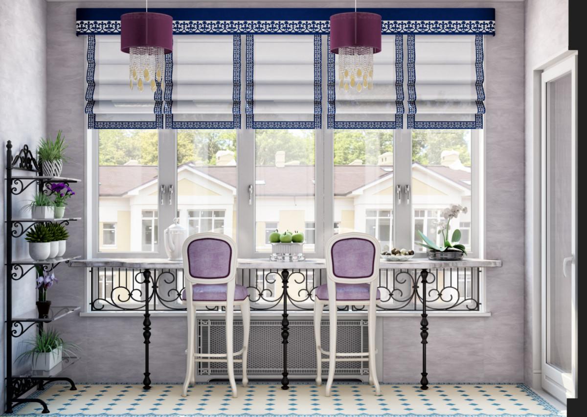 Балкон основной спальни