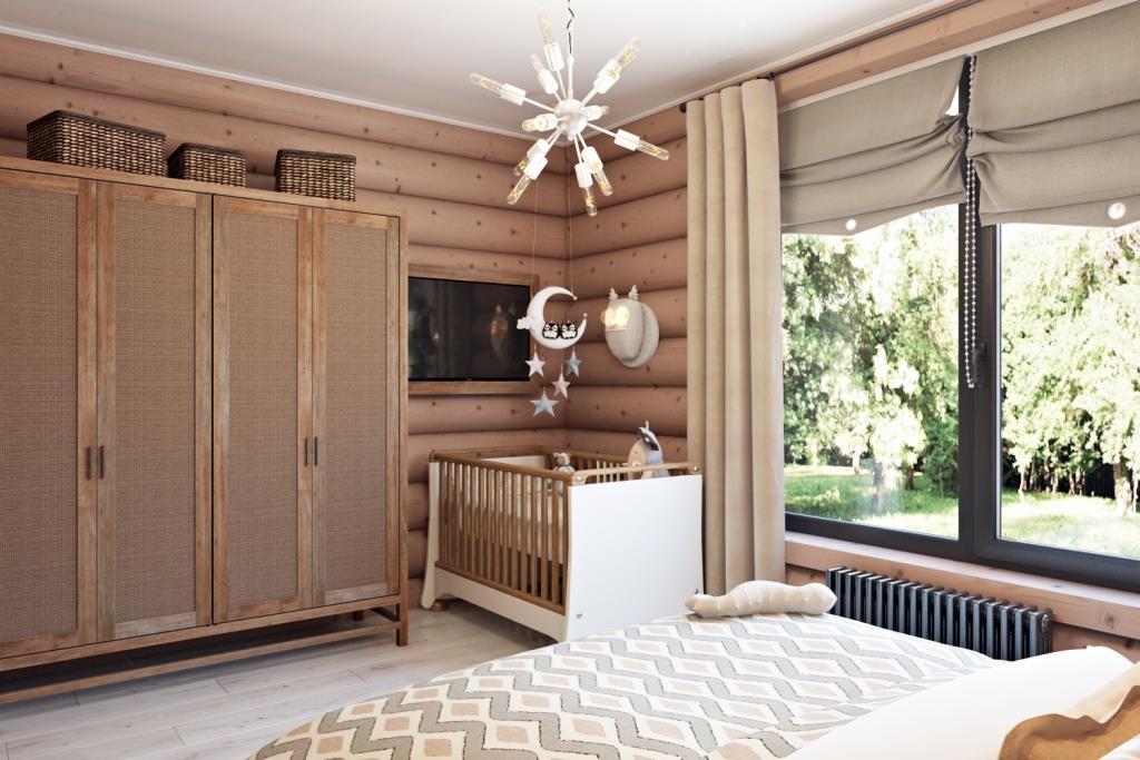 Текстиль натурального оттенка делает пространство мягким и уютным. Преобладание бежевого оттенка легче воспринимается за счет различия материала и текстур этого цвета