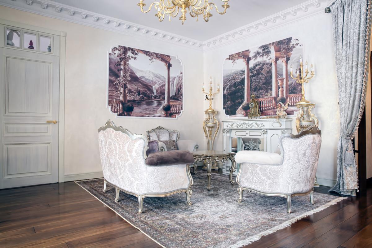Трёхкомнатная квартира, оформленная с французским шиком