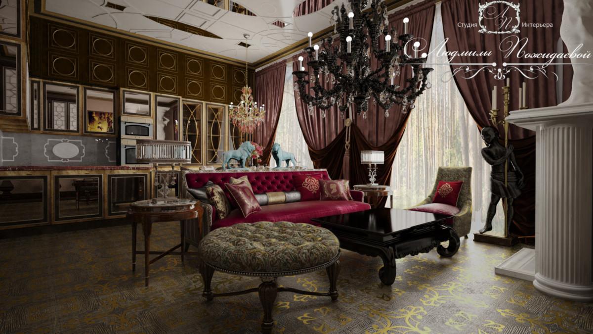 Прекрасный могучий интерьер с множеством накопленных традиционных деталей для колониального стиля, из которого история вынесла удобство крупных форм, основательность предметов и тканей, аксессуары для созерцания, не только использования.