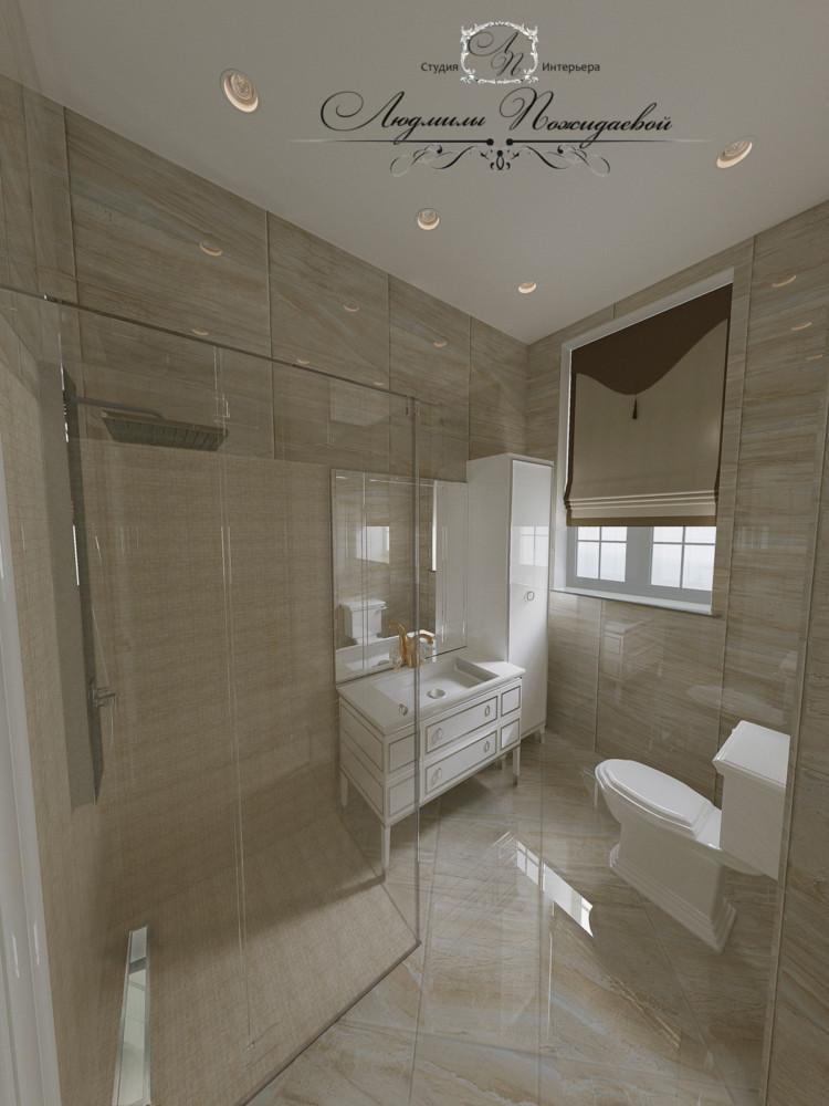 Гостевые санузлы должны вызывать ощущение чистоты и респектабельности, материалы в стиле натурального камня, спокойные тона и выверенная геометрия поможет вам в этом.