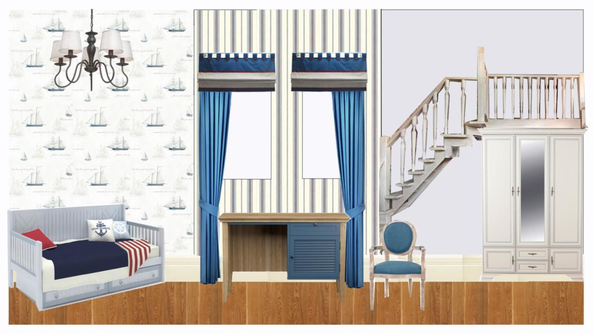 Коллаж — стилистическое решение оформления комнаты.