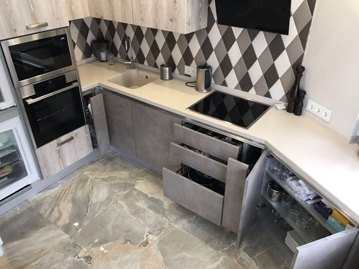 Дизайн маленькой кухни: 180+ фото интерьеров