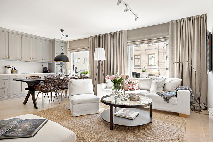 Квартира в скандинавском стиле, которая радует взор