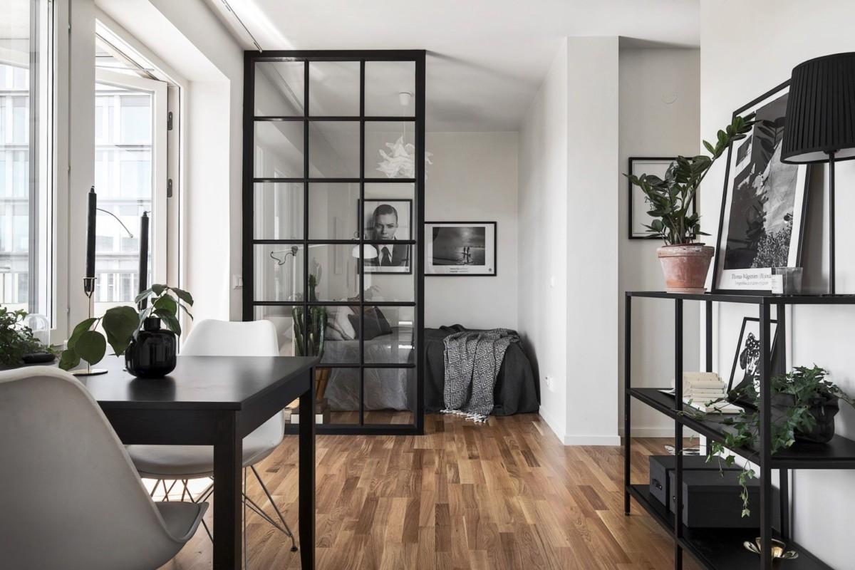Дизайн интерьера однокомнатной квартиры площадью 34 метра