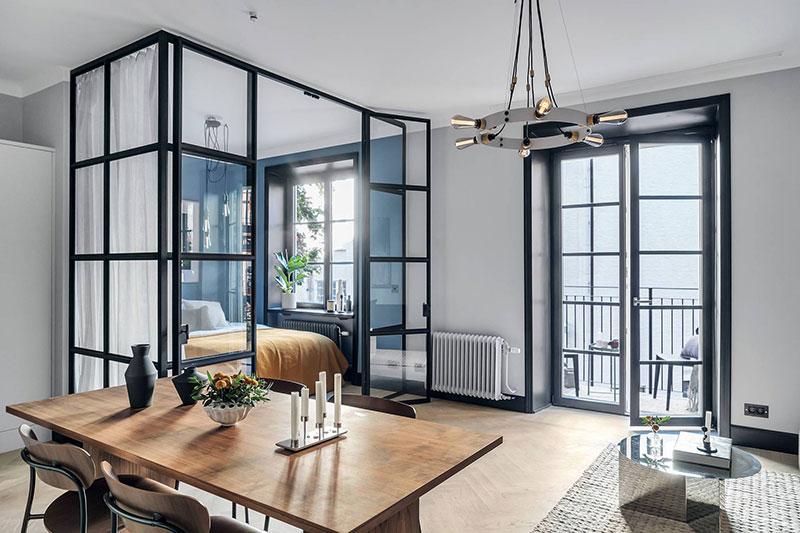 Дизайн однокомнатной квартиры площадью 40 квадратных метров