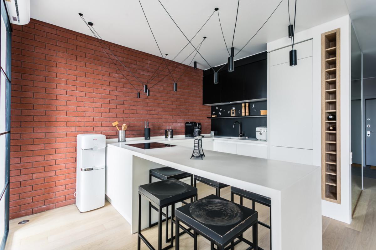 Дизайн квартиры-студии 50 квадратных метров: жизнь в стиле Лофт