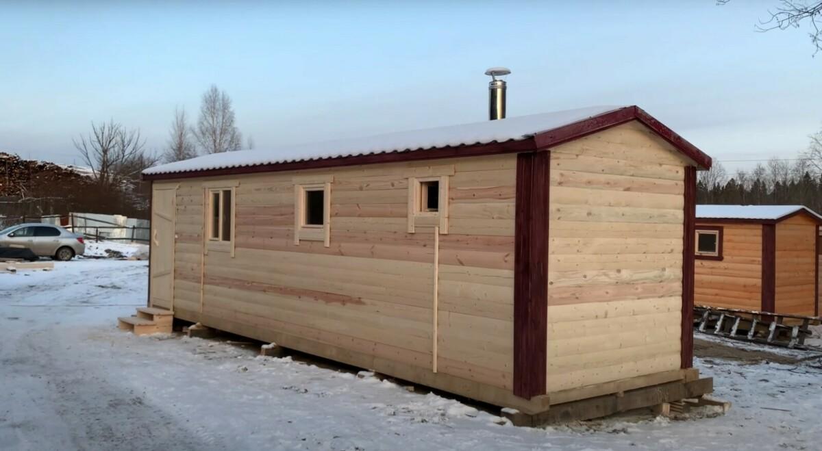 постройка перевозной бани