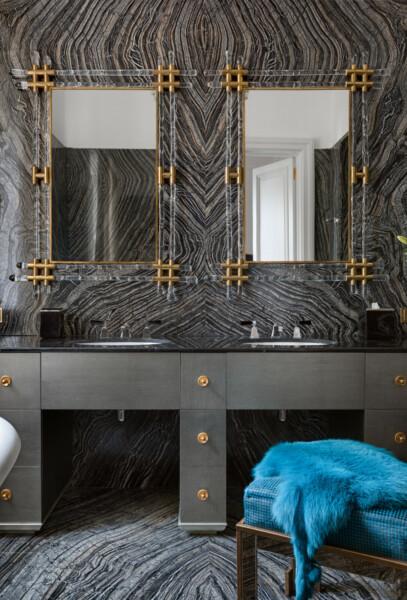 Ванная в  цветах:   Бежевый, Бирюзовый, Серый.  Ванная в  стиле:   Классика.